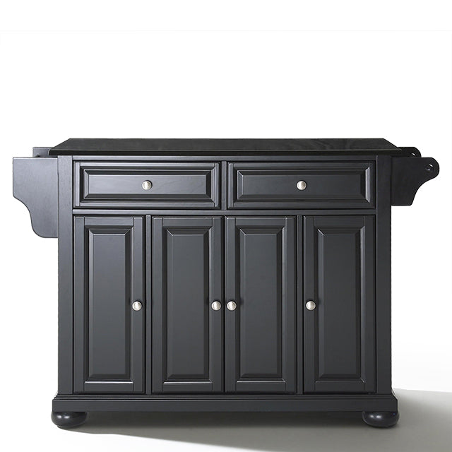 Crosley Kitchen Island Storage Adjustable Shelves Raised Panel Doors w/ Multiple Finishes - Kitchen Furniture Company