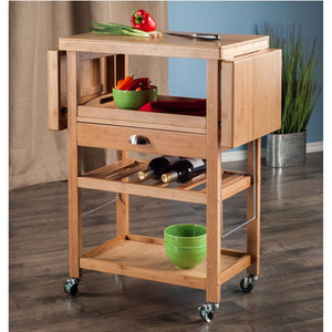 Barton Bamboo Kitchen Cart With Drop Leaf by Winsome Wood - Kitchen Furniture Company