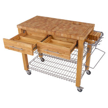 Load image into Gallery viewer, Professional Chef's Kitchen Work Station with Wire Shelves - Kitchen Furniture Company