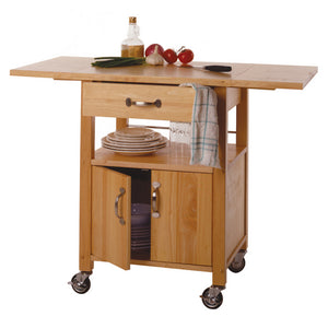 Mobile Kitchen Cart by Winsome Wood w/Drop-Leaf Extensions - Kitchen Furniture Company