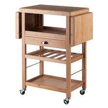 Load image into Gallery viewer, Barton Bamboo Kitchen Cart With Drop Leaf by Winsome Wood - Kitchen Furniture Company