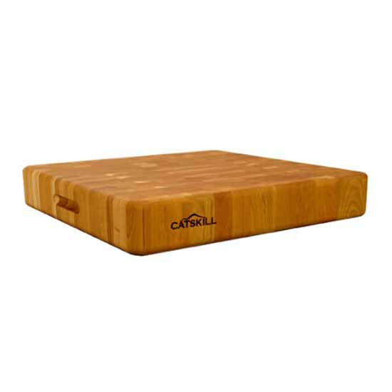 Catskill Craftsmen Reversible End Grain Slab Butcher Block with Finger Slots - Kitchen Furniture Company