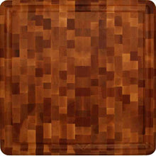 "Load image into Gallery viewer, Reversible  Thick Slab End Grain With Juice Groove 18""W x 18""D x 3""H - Kitchen Furniture Company"