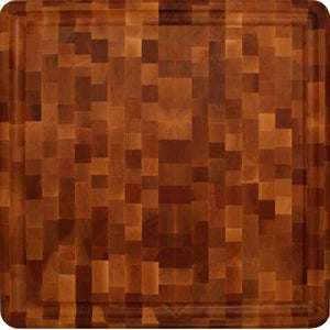 "Reversible  Thick Slab End Grain With Juice Groove 18""W x 18""D x 3""H - Kitchen Furniture Company"