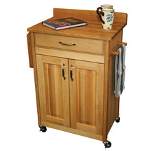 Load image into Gallery viewer, Kitchen Butcher Block Cart with Backsplash w/ Raised Panels 61532 - Kitchen Furniture Company