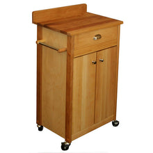 Load image into Gallery viewer, Butcher Block Cart with Backsplash Butcher Block Top 51531 - Kitchen Furniture Company