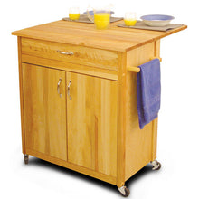 Load image into Gallery viewer, Mid-Size Two Door Kitchen Cart with Drop Leaf On Caster's 51533-51536 - Kitchen Furniture Company