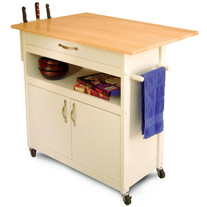 Catskill Craftsmen Drop Leaf Utility Cart 16755 - Kitchen Furniture Company
