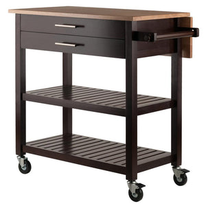 Mobile Kitchen Cart Island w/Leaf Extension WS-40826 - Kitchen Furniture Company