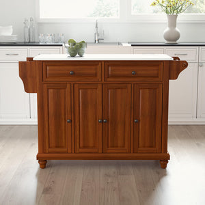Cambridge Cherry Full Size Kitchen Island/Cart with Granite Top - Kitchen Furniture Company