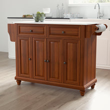 Load image into Gallery viewer, Cambridge Cherry Full Size Kitchen Island/Cart with Granite Top - Kitchen Furniture Company