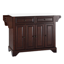 Load image into Gallery viewer, Lafayette Mahogany Full Size Kitchen Island/Cart with Granite Top - Kitchen Furniture Company
