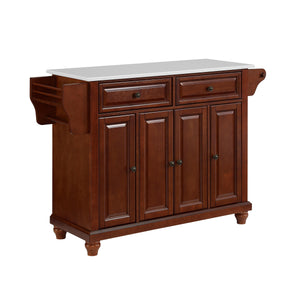 Cambridge Mahogany Full Size Kitchen Island/Cart with Granite Top - Kitchen Furniture Company