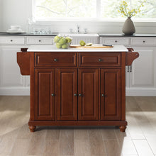 Load image into Gallery viewer, Cambridge Mahogany Full Size Kitchen Island/Cart with Granite Top - Kitchen Furniture Company