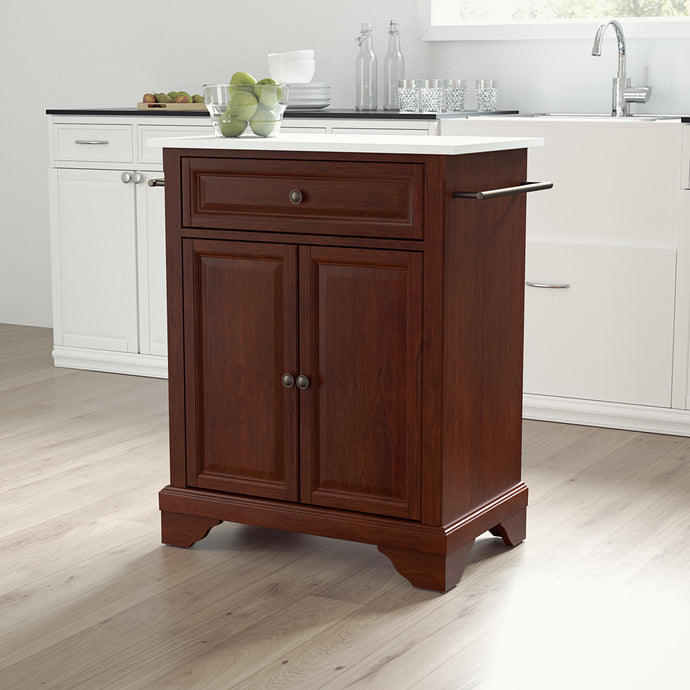 Lafayette Mahogany Portable Kitchen Island/Cart with Granite Top - Kitchen Furniture Company