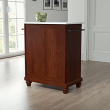 Load image into Gallery viewer, Cambridge Mahogany Portable Kitchen Cart/Island with Granite Top - Kitchen Furniture Company