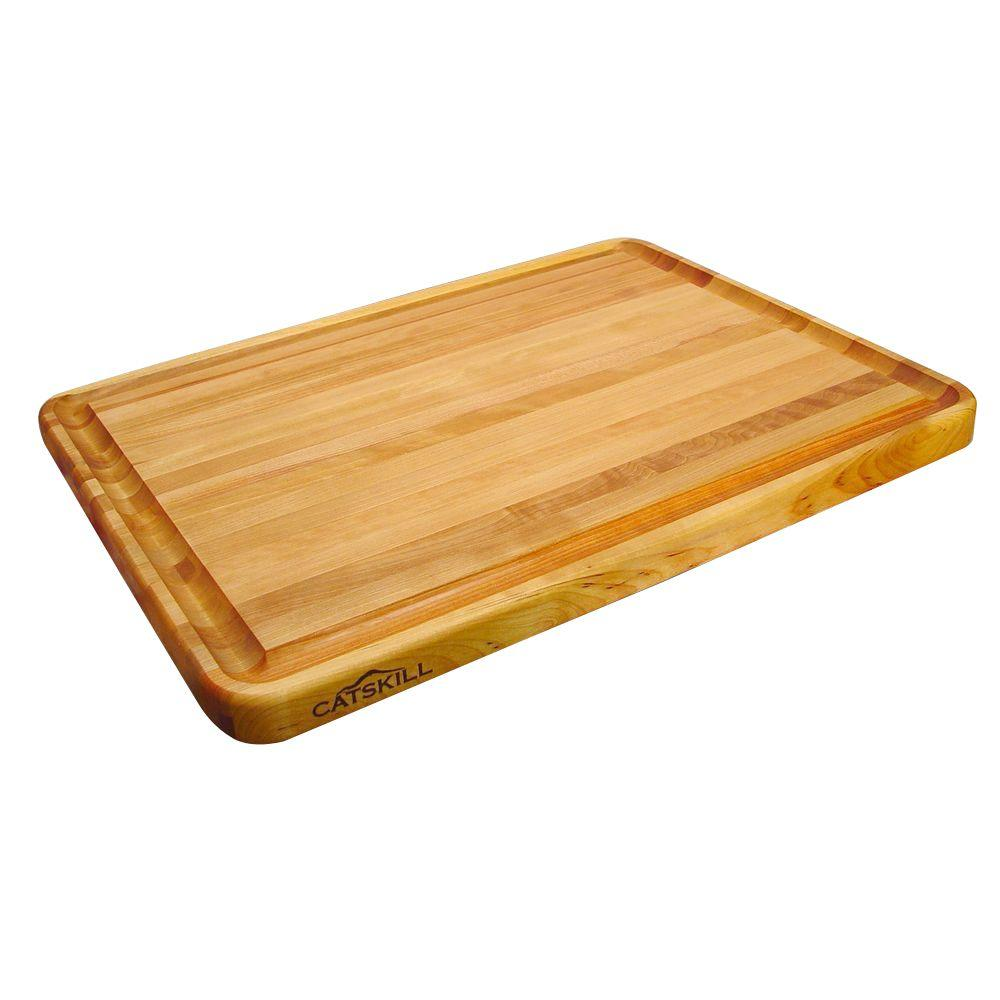 18 in. x 24 in. Pro Series Hardwood Reversible Cutting Board Juice Groove - Kitchen Furniture Company