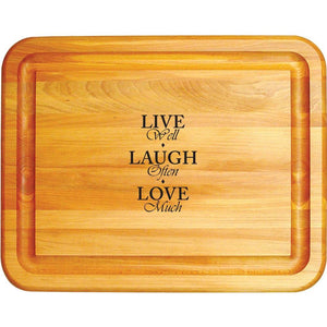 Reversible Cutting Board Live Laugh Love Cutting Board in Birch 1334 - Kitchen Furniture Company