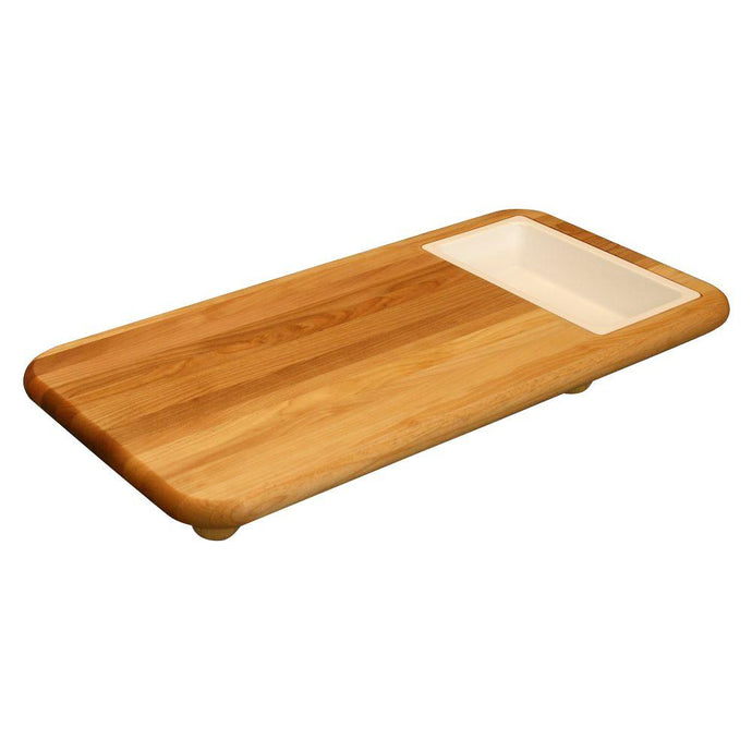 Hardwood Cutting Board with Cut 'n' Catch Removable Tray 1337 - Kitchen Island Company