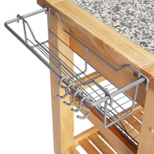 Load image into Gallery viewer, All Natural Wood Professional Rolling Kitchen Cart Heavy Duty Legs JET1223 - Kitchen Furniture Company