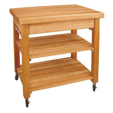 "Load image into Gallery viewer, Kitchen Island Work Center w/ 2 1/2"" Thick Butcher block Top 1476 - Kitchen Furniture Company"