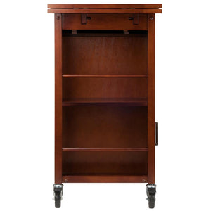 Mobile Kitchen Work Space w/ Professional Grade Casters Wine Storage WS-94643 - Kitchen Furniture Company