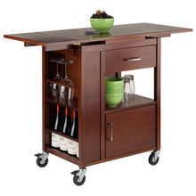 Load image into Gallery viewer, Mobile Kitchen Work Space w/ Professional Grade Casters Wine Storage WS-94643 - Kitchen Furniture Company