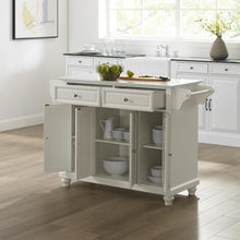 Load image into Gallery viewer, Cambridge White With Granite Top Full Size Kitchen Island - Kitchen Furniture Company