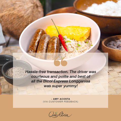 what people say about the que rica bicol express longganisa