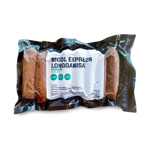 bicol express longganisa in a packaging and transparent background