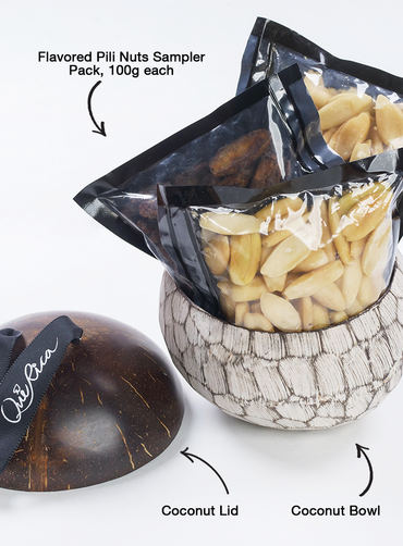 Pili Sampler Pack in Coconut Bowl with Lid (pack of 3) *PREORDER* *PREPAYMENT REQUIRED*