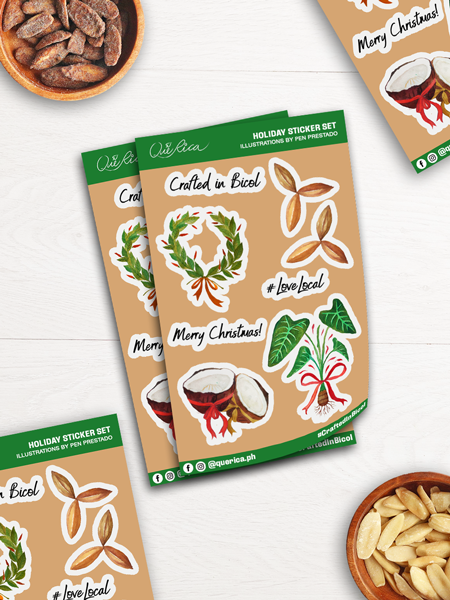 Que Rica Holiday Sticker Set (pack of 2)