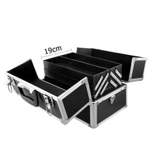 Load image into Gallery viewer, Portable Travel Cosmetic Beauty Make Up Nail Hair Carry Case Box Organiser Black