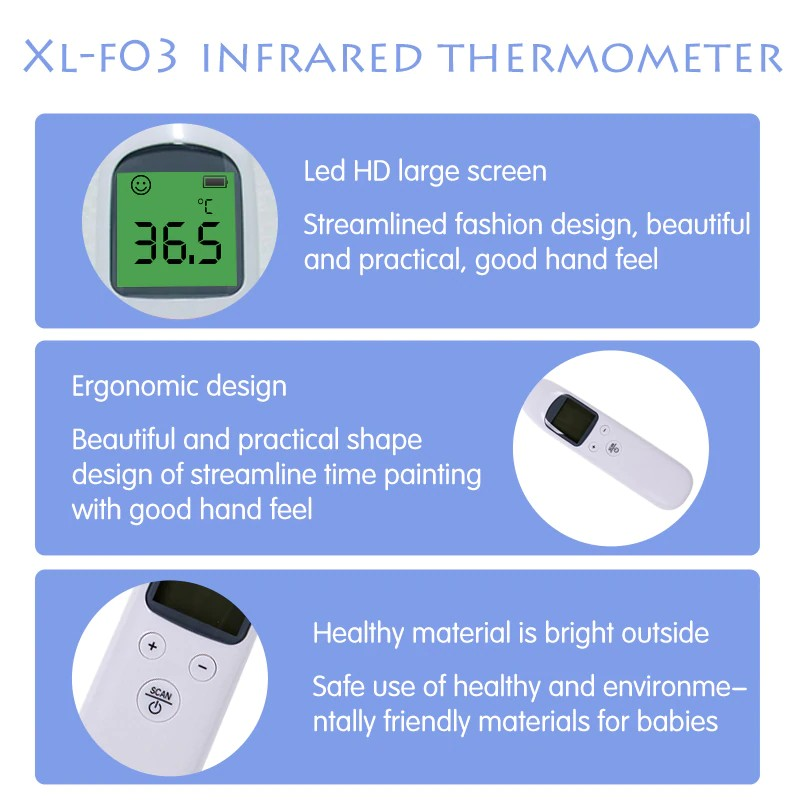 Baby Thermometer | Digital Infrared | Forehead Ear Non-contact | Adult