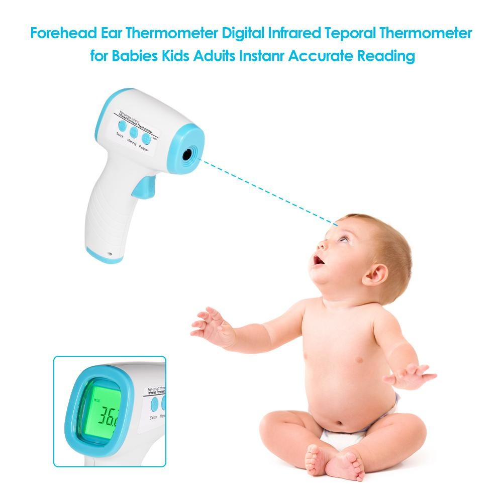 Baby Thermometer Best For Infant Kids Adults Non Contact Forehead Ear Infrared Digital Fast Accurate
