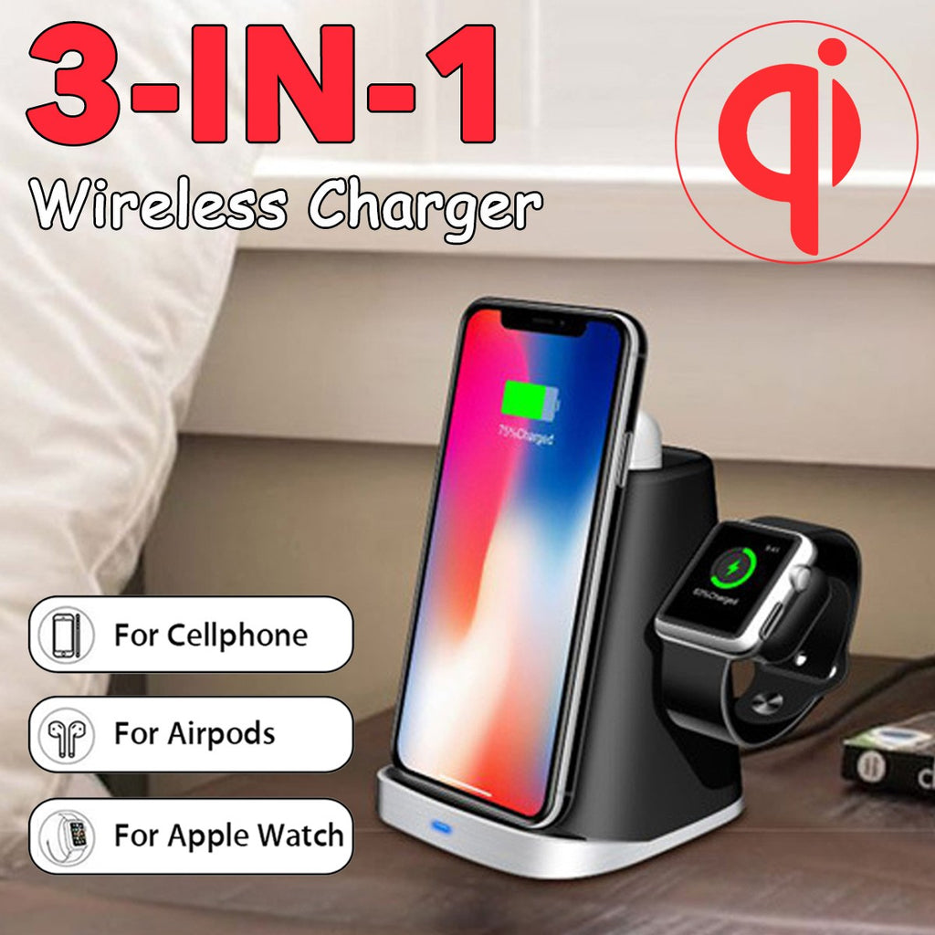 3-in-1 Wireless Charger Qi Certified
