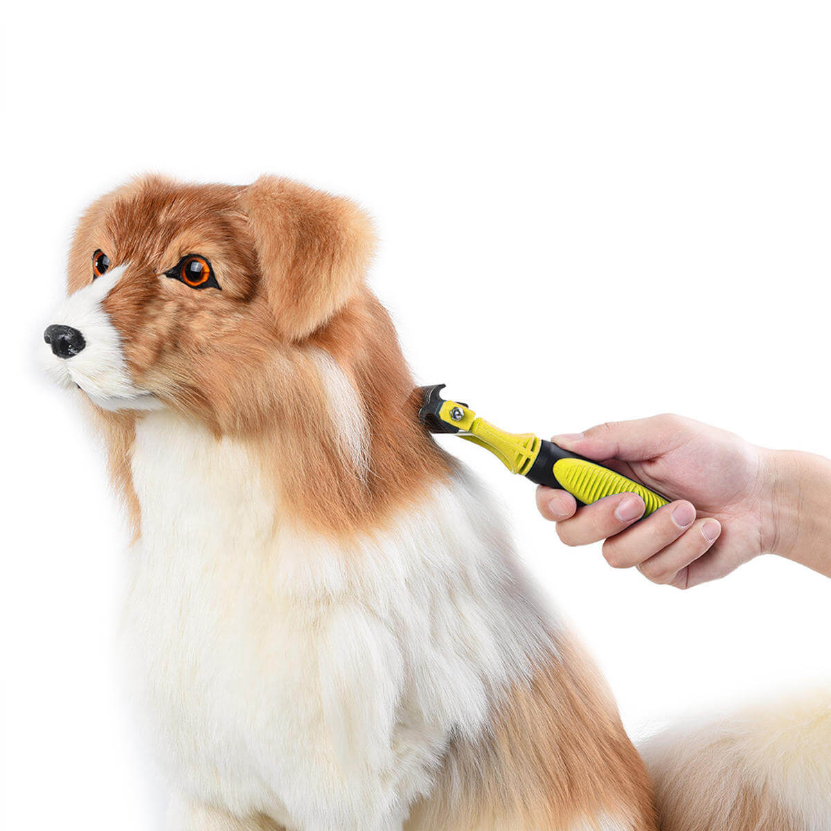 Dog Dematting Comb Deshedding Rake Handle 3