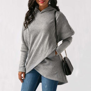 Long Sleeve Hoodies Wrap Loose Pullover