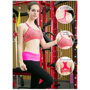 Women Adjustable Padded Sports Bra,