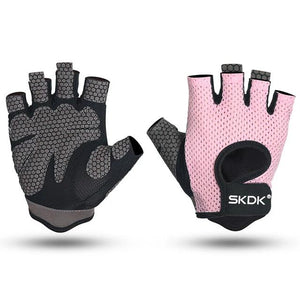Women Workout Gloves,  Finger-less Gloves with Curved Open Back