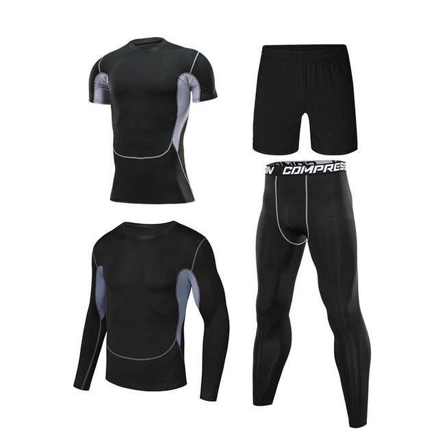 Men's Tracksuit, Fitness Compression Clothing, Running Jogging, Yoga Suit