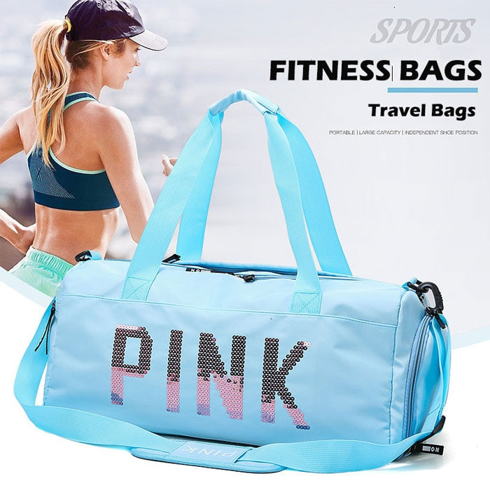 Gym Bag For Women, Contain  Shoe Compartment, Waterproof  For Fitness Training, Yoga, Travel