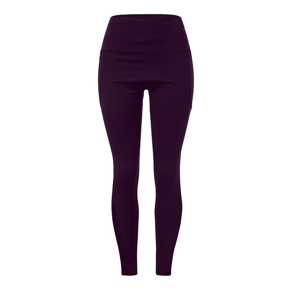 Women High Waist Leggings with Pockets