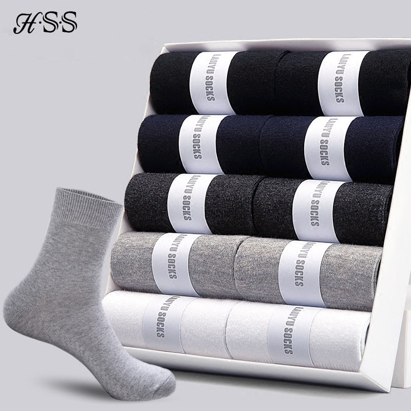 Men's Cushion Crew Cotton Socks 6 Pairs Athletic Running Socks For Sport & Work