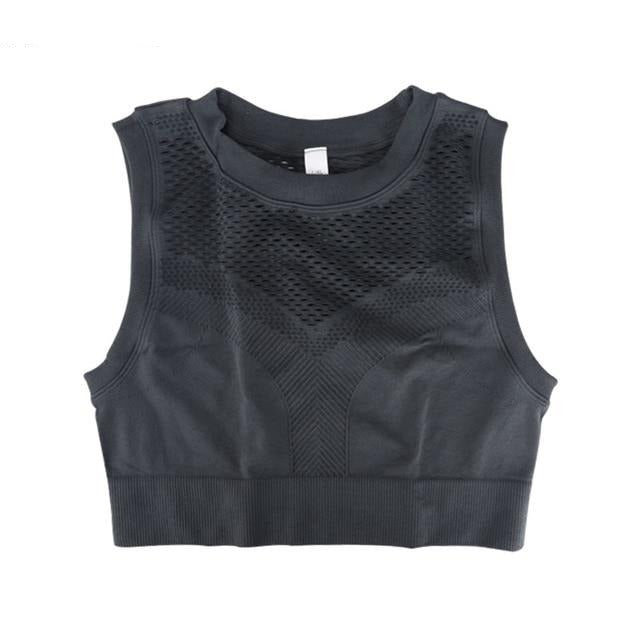 Women Cropped Top Seamless Sleeveless, Yoga, Sports Wear