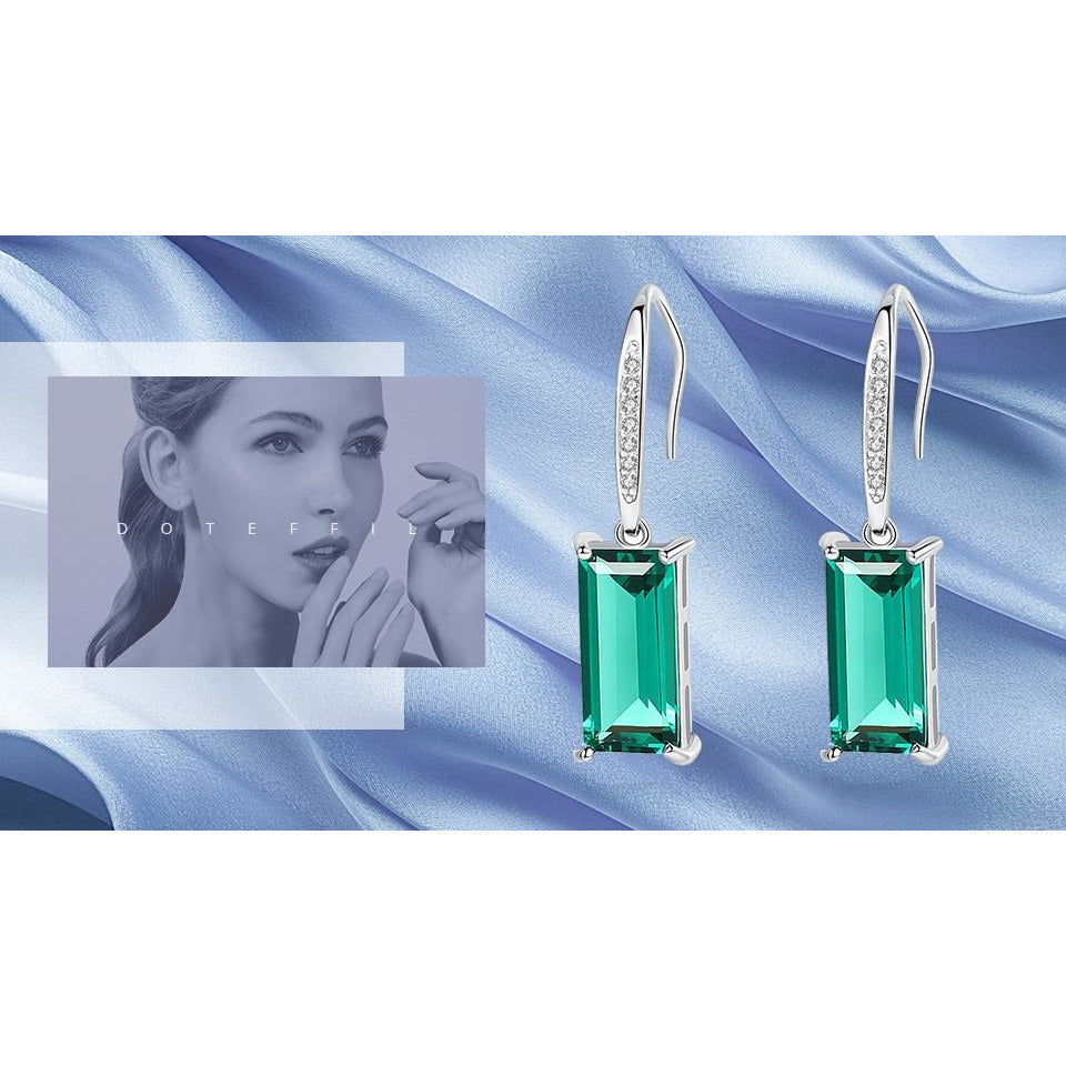 DOTEFFIL Exquisite 925 Solid Silver Drop Earrings