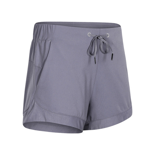 SHINBENE  Drawstring  Shorts with Pockets