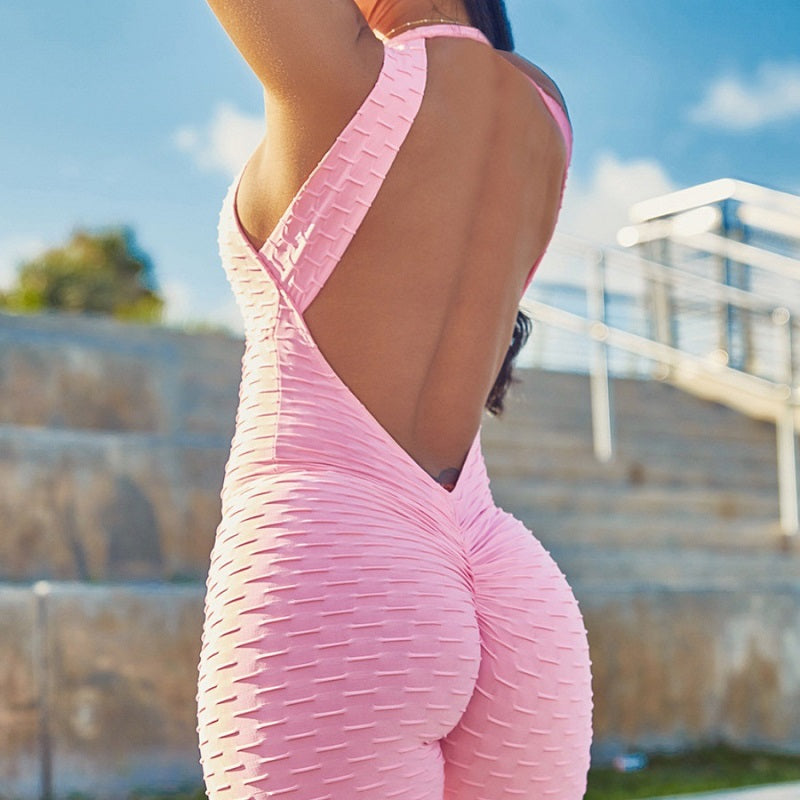 Backless, Sleeveless Bodysuit Sport wear