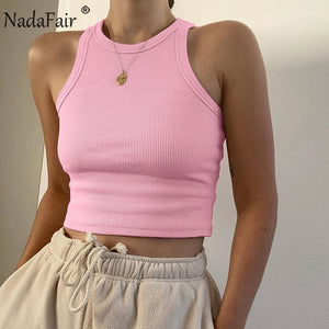 Nadafair Ribbed Women Tank Top
