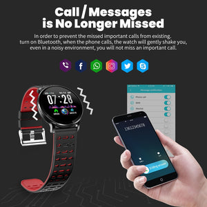 Smart Watch , waterproof Heart rate monitor Smartwatch Message reminder Fitness tracker For Android and IOS